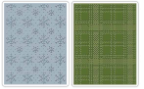Sizzix Embossing Folders By Tim Holtz - Plaid & Snowflakes