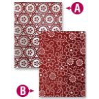 M-Bossabilities Reversible A2 Embossing Folder - Dotted Flowers