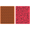 Sizzix Textured Impressions Embossing Folders, Set of 2 - Chevrons & Flourishes