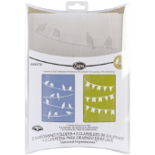 Sizzix Textured Impressions Embossing Folders, Set of 2 - Birds & Banners Set