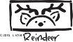 Reindeer with Border