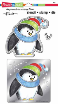 Winter Penguin - Metal Stencil, Clear Stamp and Die