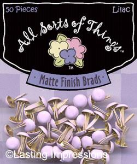 Matte Finish Round Mini Brads - Lilac