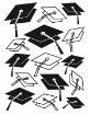 Darice A2 Embossing Folder - Graduation Hat Background