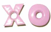 "X's and O's 3/16"" Eyelets - Baby Pink"