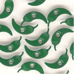 "10 1/8"" Chile Pepper Eyelets - Jalapeno Green"