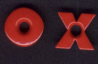"X's and O's 3/16"" Eyelets - Fire Red"