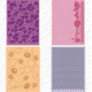 Cuttlebug Cricut Companion Embossing Folder Bundle (4) - Simply Charmed