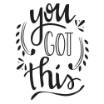 Darice A2 Embossing Folder - You Got This