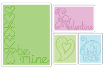 Sizzix Textured Impressions Embossing Folders, Set of 4 - Valentine
