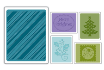 Sizzix Textured Impressions Embossing Folders, Set of 5 - Christmas #4