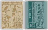 Sizzix Texture Fades Embossing Folders By Tim Holtz - Halloween Night/Poison