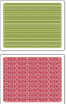 Sizzix Textured Impressions Embossing Folders By Basic Grey - Peppermint Twists & Scallops and Lines