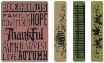 Sizzix Texture Fades Embossing Folders By Tim Holtz - Thankful Background & 3 Borders