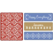 Sizzix Embossing Folders, Set of 4 - Holiday Damask