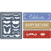 Sizzix  Embossing Folders A2 + 3 Borders  - Mustache