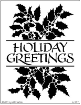 Holiday Greetings and Holly